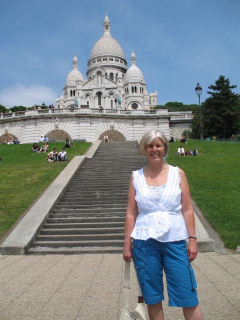 me in front of  Sacré-Cœur Basilica
