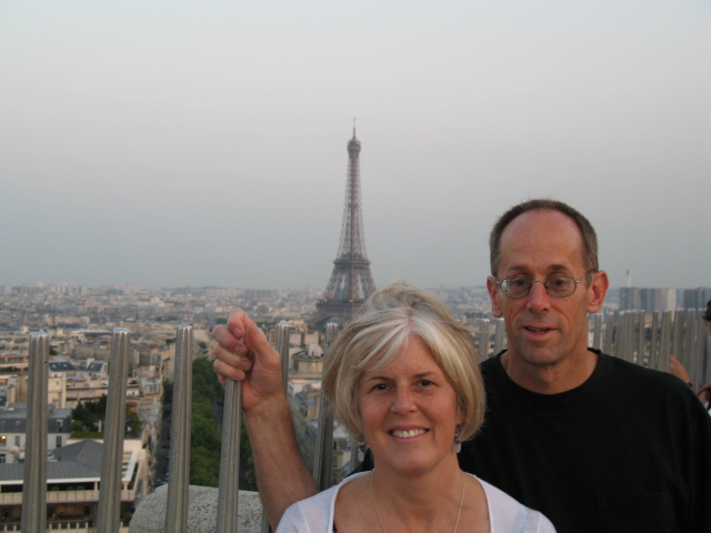 Me with Mike at the Arc de Triomphe