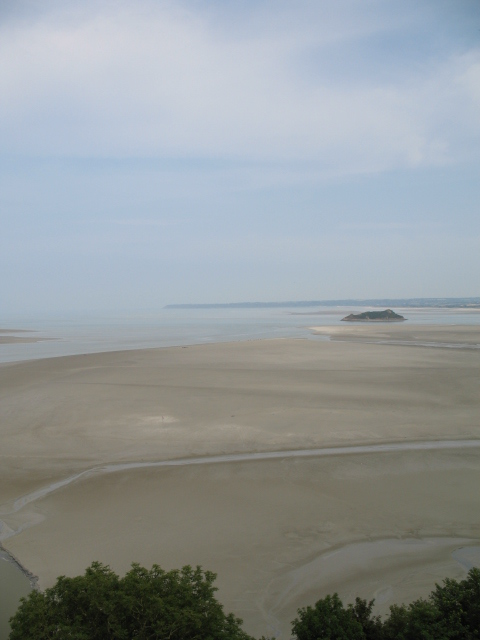 looking down on the bay from Mont Saint-Michel