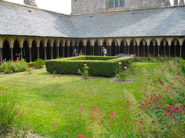 cloister at Mont Saint-Michel