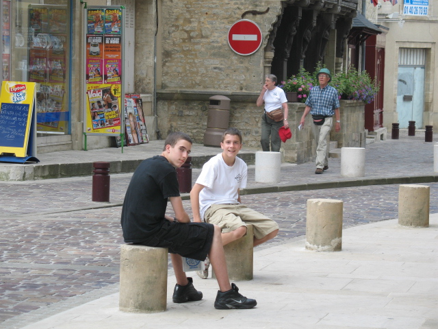 Alex and Adam in Bayeaux