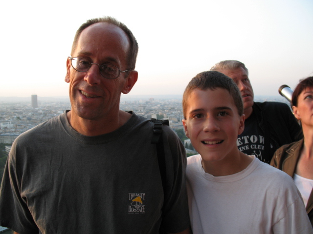Mike & Adam atop the Eiffel Tower