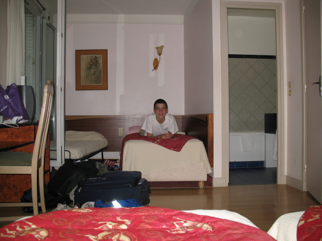 Adam relaxes in our room
