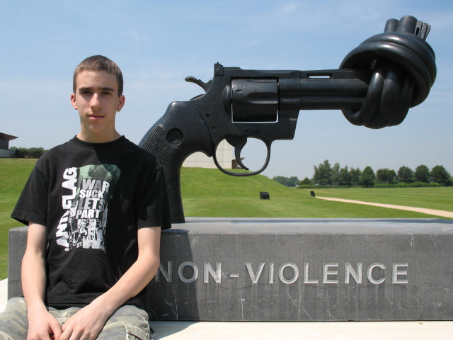 Alex and the Caen Peace Memorial