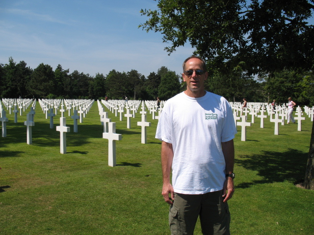 Mike at the Normandy American Cemetery and Memorial