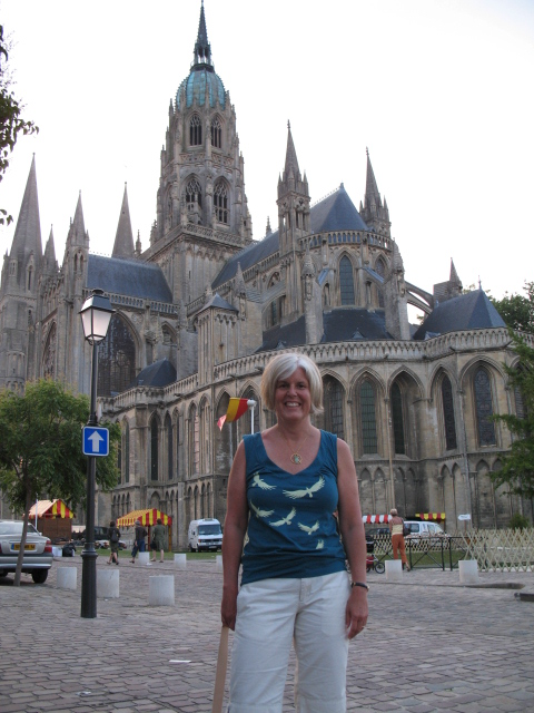 me in front of a cathedral