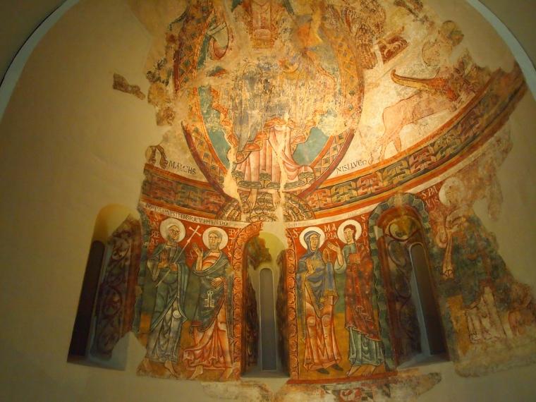 Romanesque wall murals