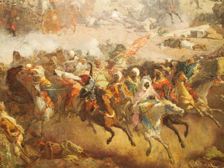 "Close-up of ""The Battle of Tetuan"""
