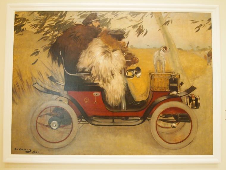 Ramon Casas: Pere Romeu en une automobil: 1901