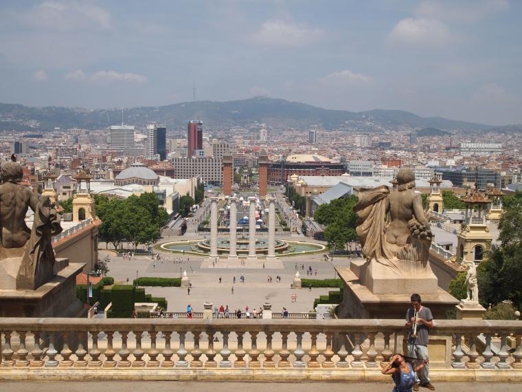 view from Museu Nacional d'Art de Catalunya-MNAC
