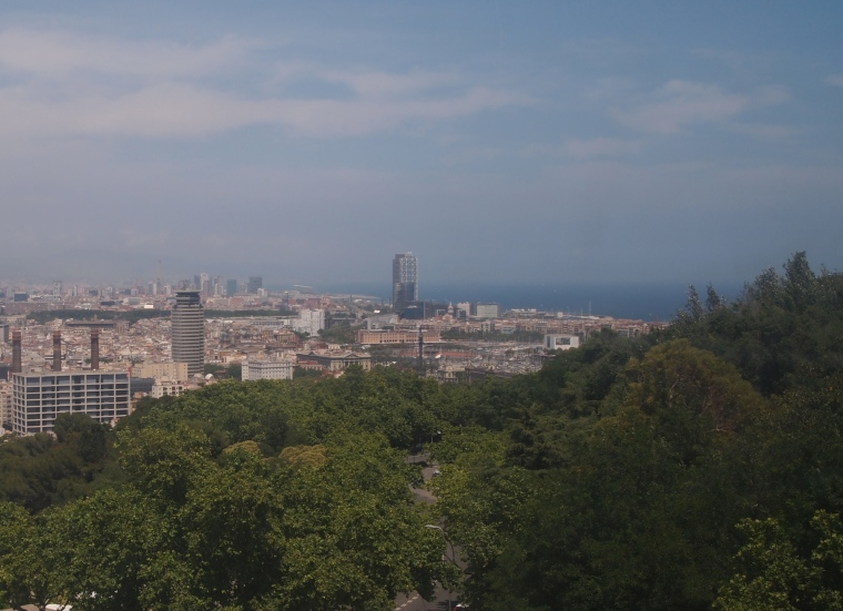 View of Barcelona and its beaches from Fundació Joan Miró