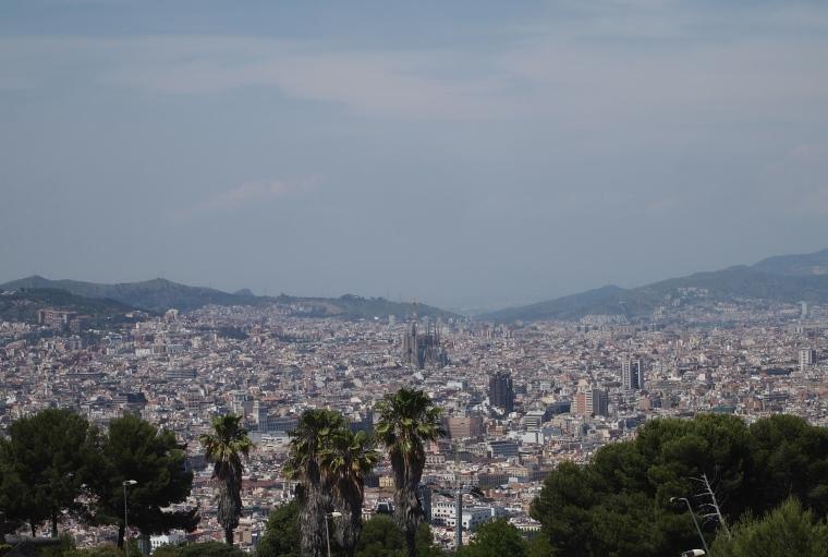 view from Castell de Montjuïc