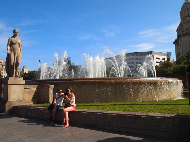 Fountains at Plaza de Catalunya