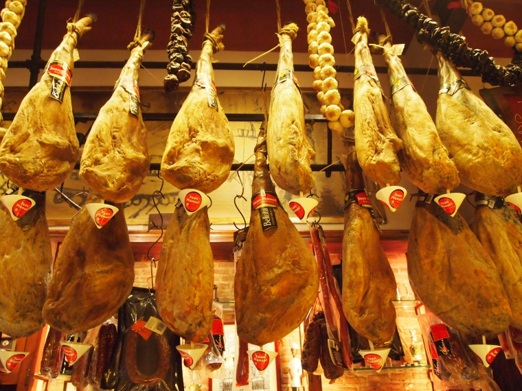 Ham is served in nearly every meal in Spain; it was forbidden in Oman!