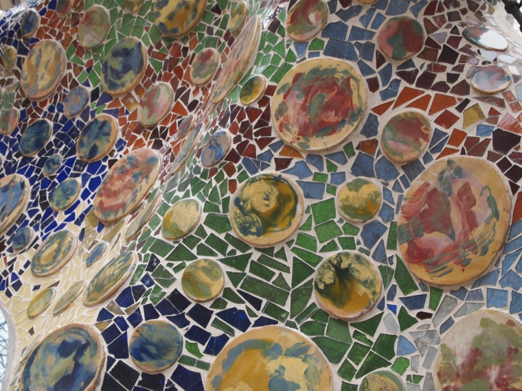 close up of mosaics