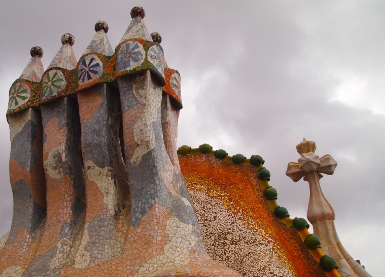 the roof: St. George and the dragon