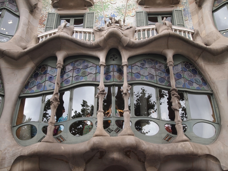 Casa Batlló's facade and wavy windows