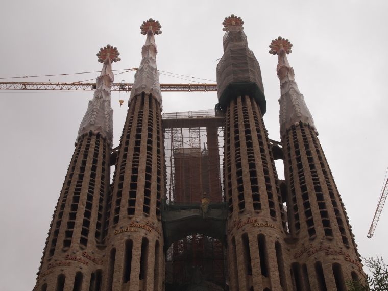 Spires of Sagrada Familia