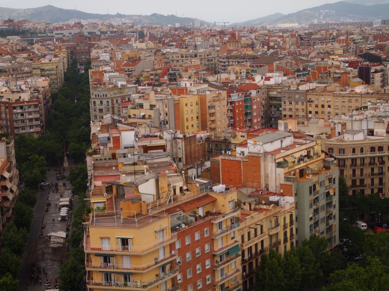 View of Barcelona from the Nativity Tower
