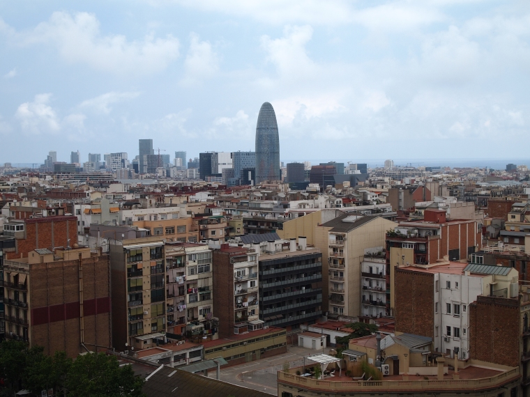 Views of Barcelona from the Nativity Tower