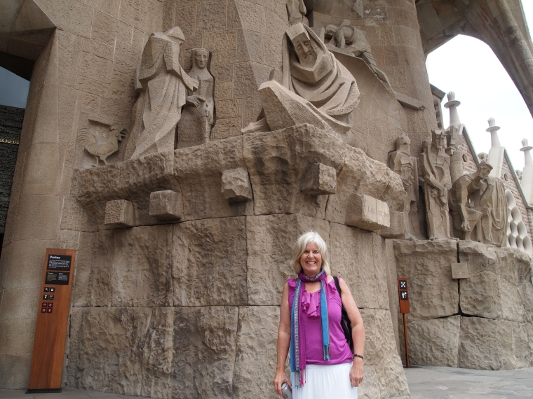 me in front of the Passion Facade