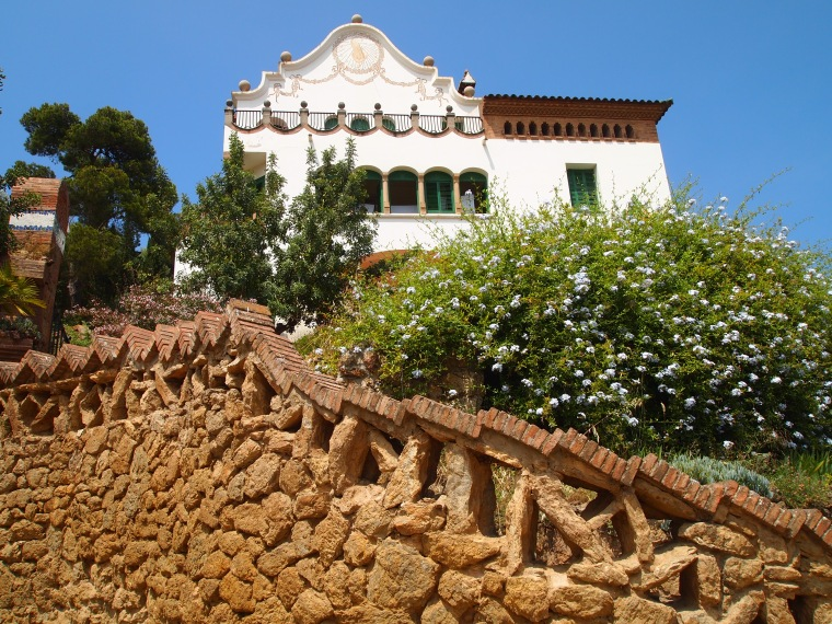 one of two houses at Park Güell