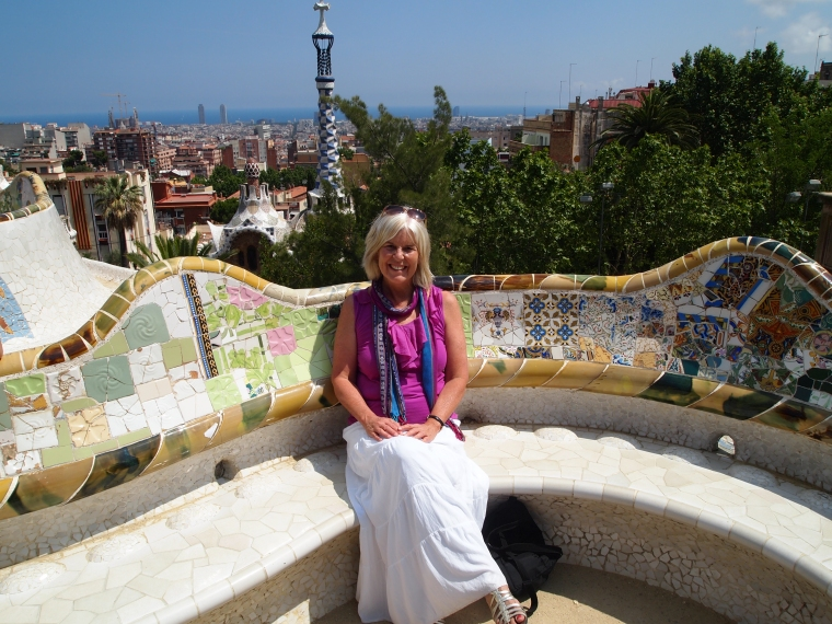 me on the serpent's seat at Park Güell