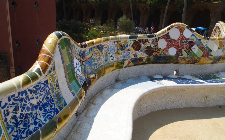 serpent's seat at Park Güell