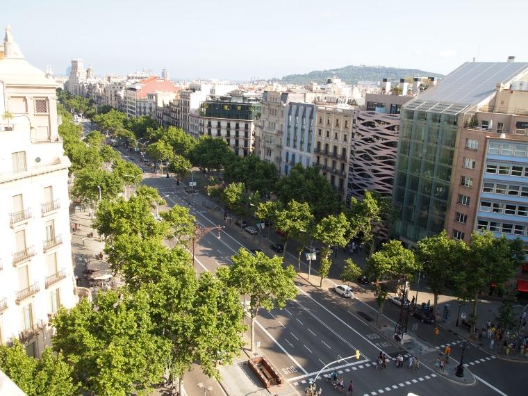 View from La Pedrera