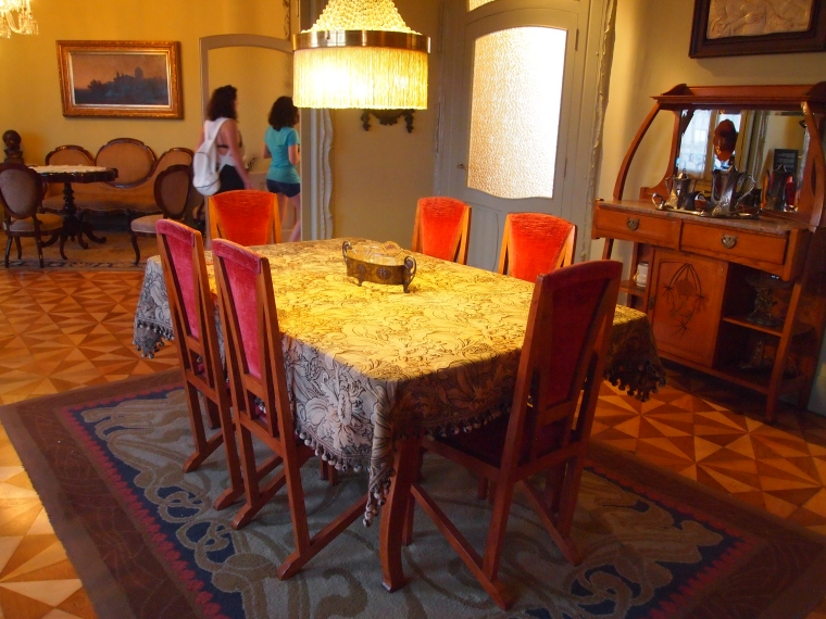 Dining room at La Pedrera