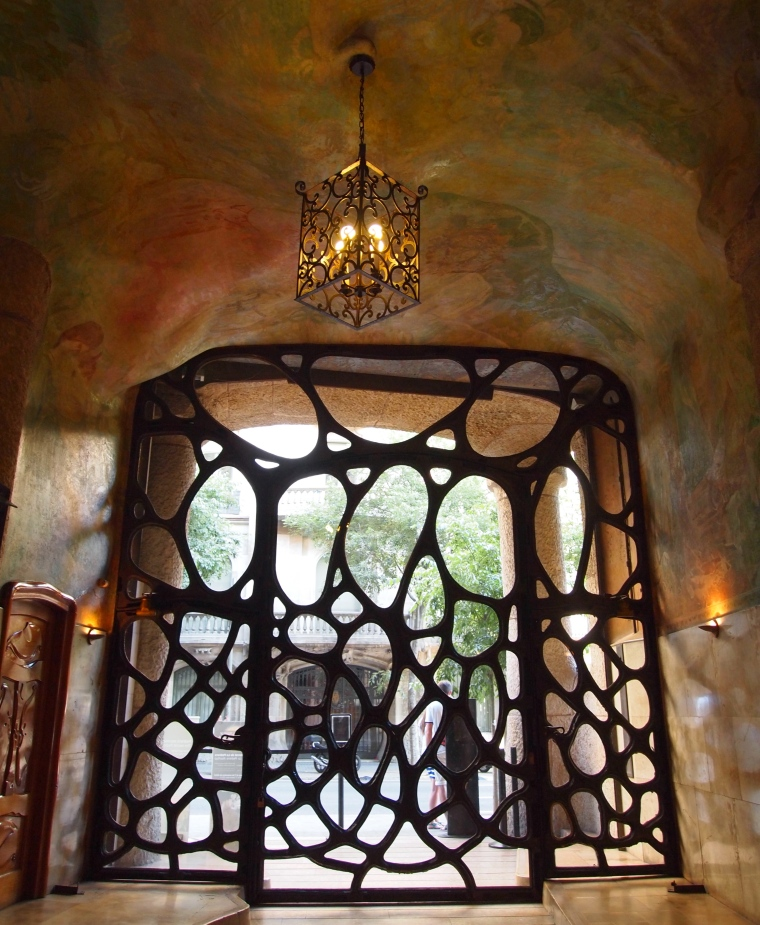 Art Nouveau door at La Pedrera