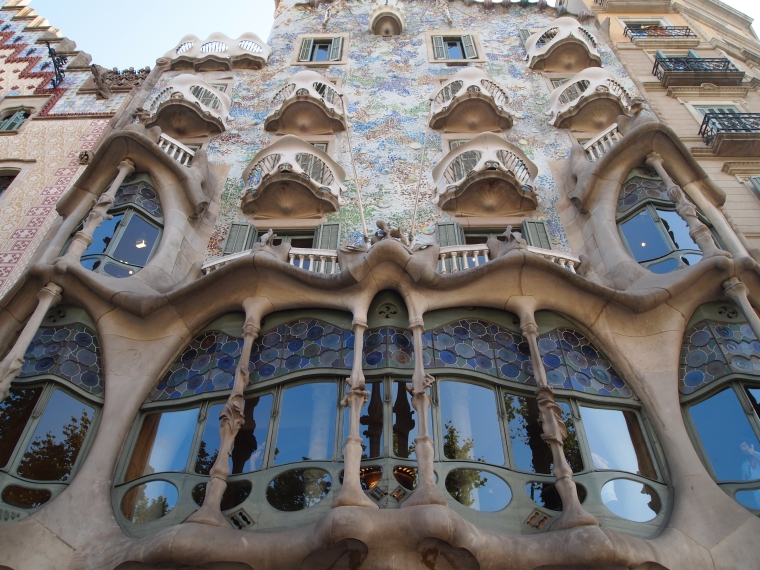 Casa Batlló at a brighter time of day