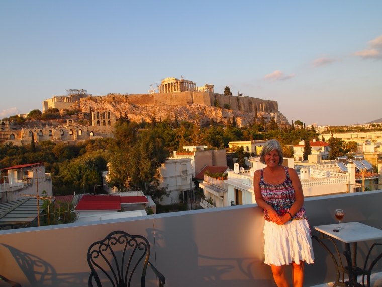 me on the rooftop of the Acropolis View Hotel in Athens ~ September 2012