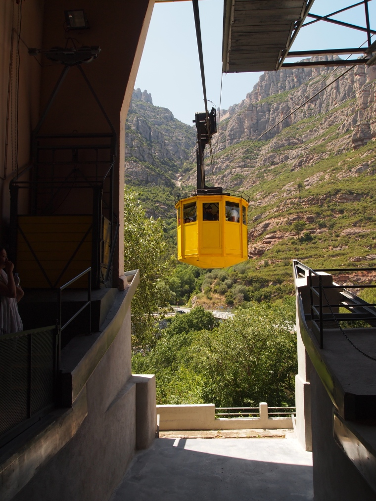 the cable car at Montserrat