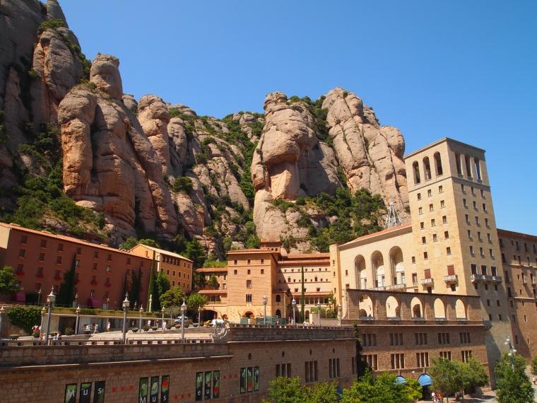 the monastery at Montserrat