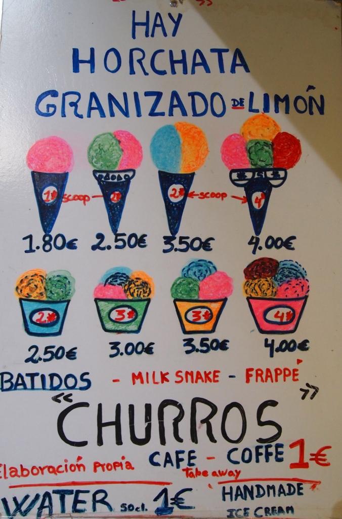 sign for gelato
