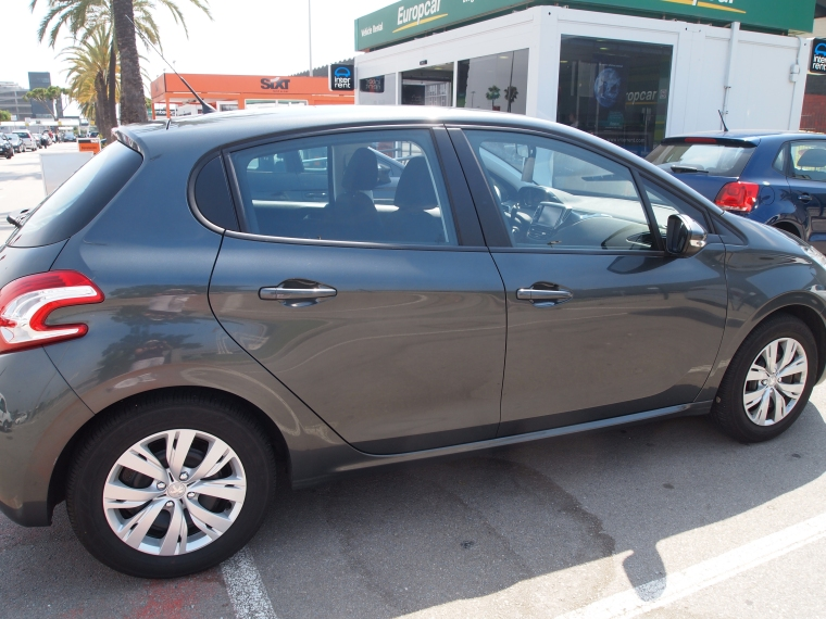 my rental car: a nifty Peugeot :-)
