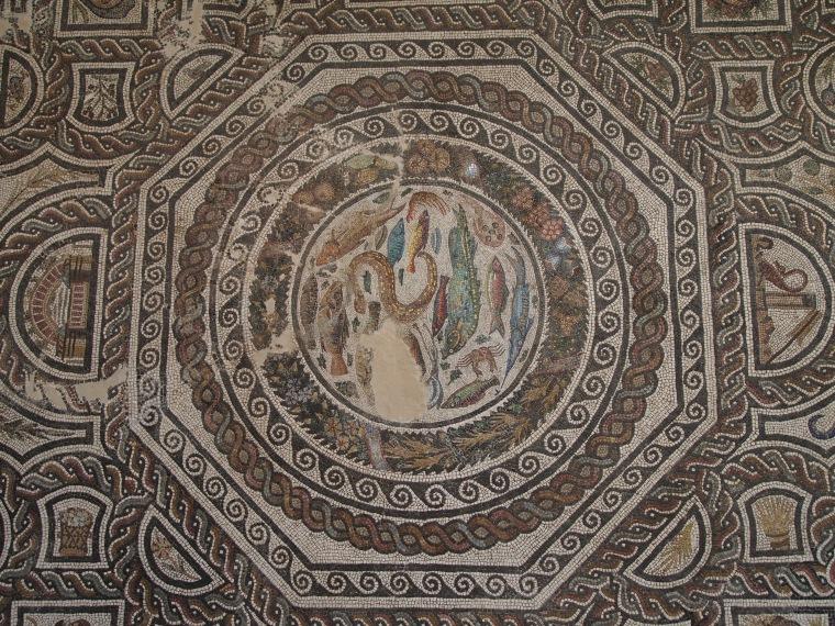 mosaics in Museo de Santa Cruz