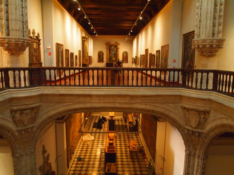 inside Museo de Santa Cruz