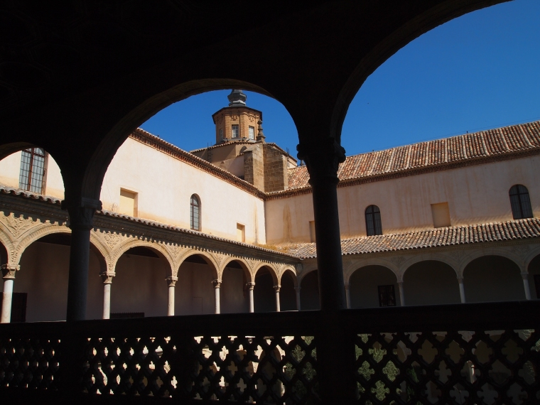 courtyard at Museo de Santa Cruz