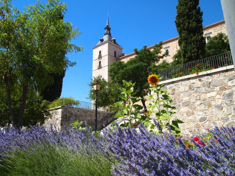 gardens at the Alcázar of Toledo