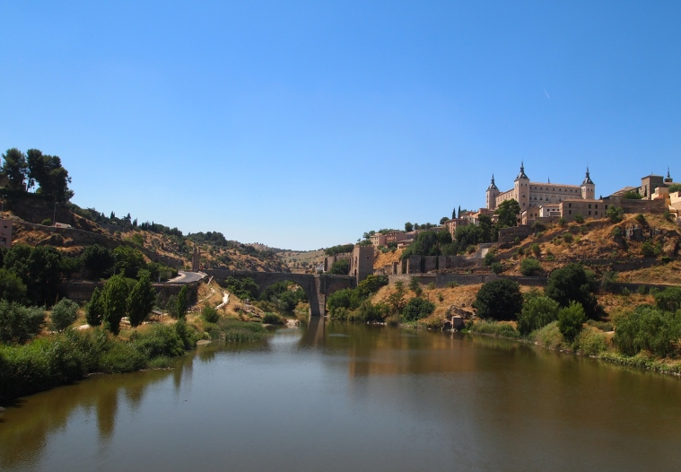Rio Tajo with the Alcázar of Toledo on its banks