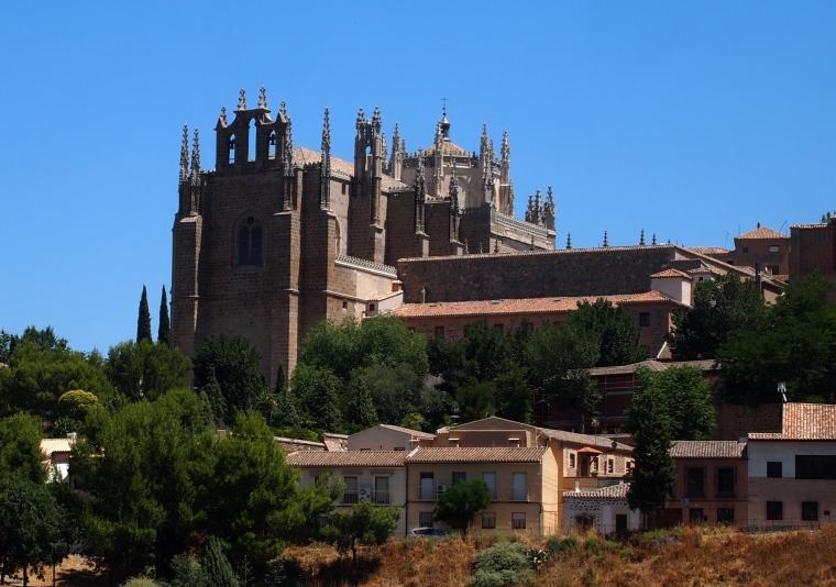 a view of San Juan de los Reyes Franciscan monastery