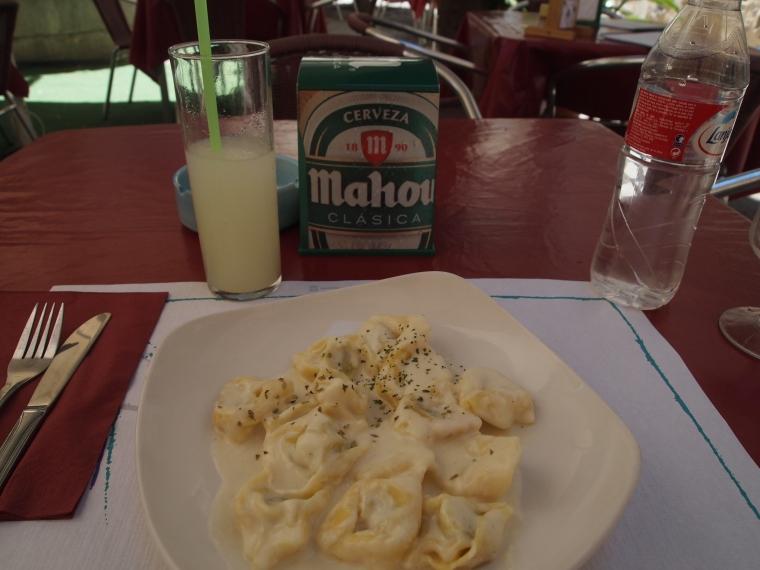Tortellini Finas Hiervas & Granizado de Limon at Bar El Rojas