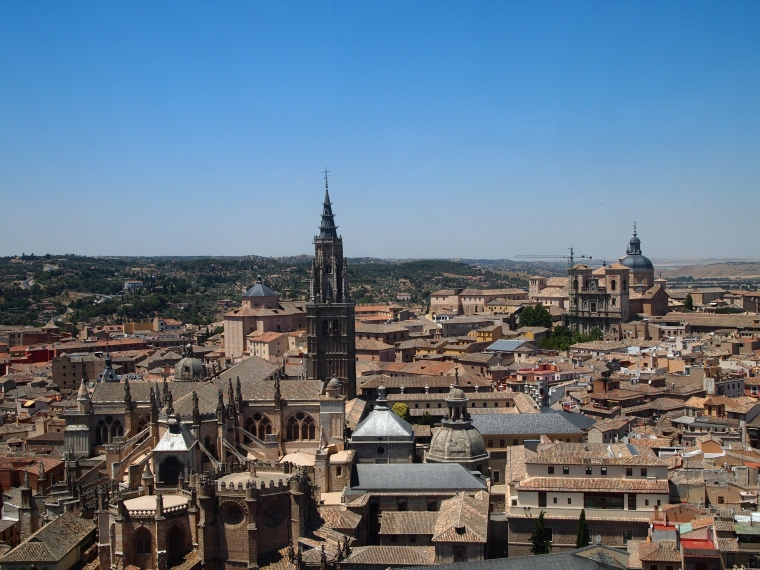 view of Toledo from the Alcazar