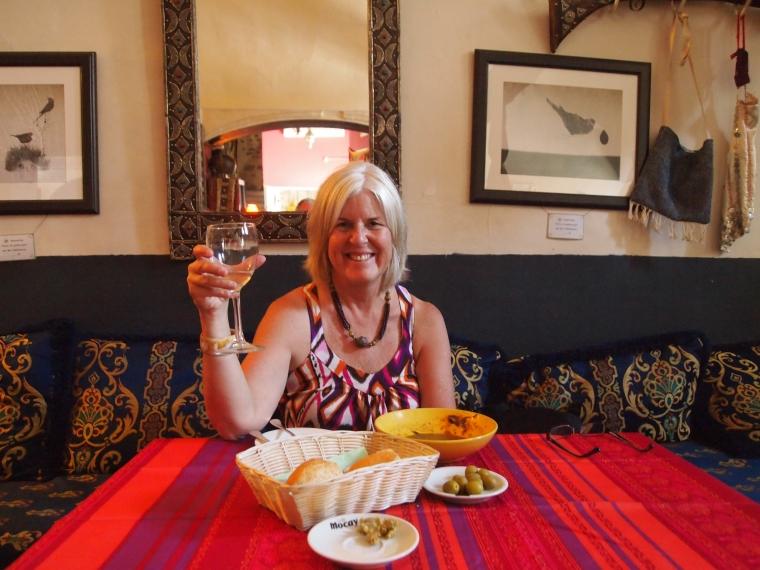 me at lunchtime at Posada El Cristo de la Luz