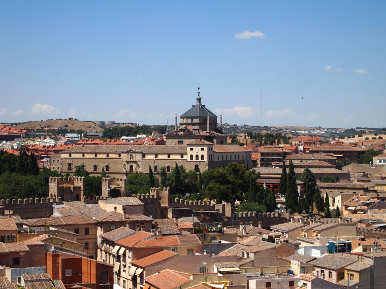 view of Toledo from Cristo de la Luz Mezquita
