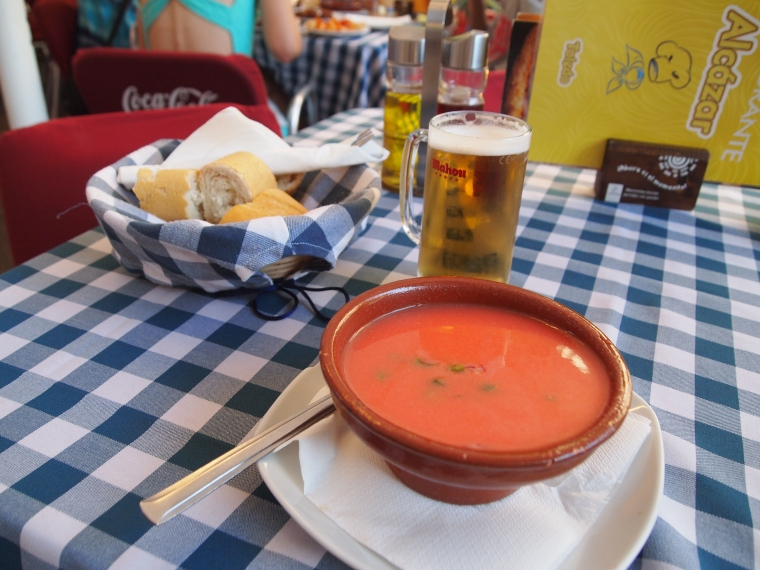 Back at Restaurant Alcazar ~ Gazpacho