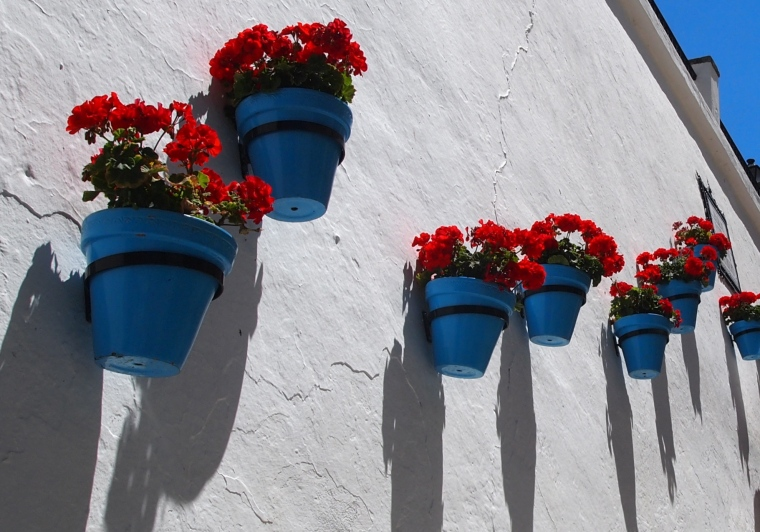 flower pots in Mijas