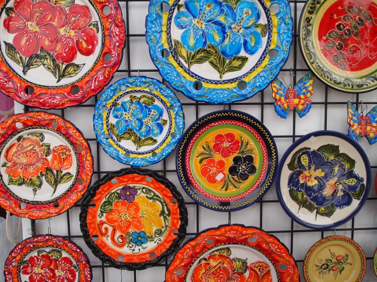 colorful ceramics